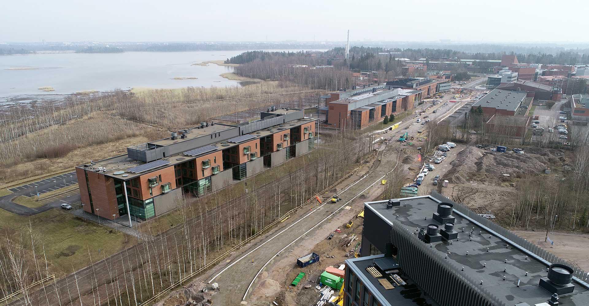 Raide-Jokerin työmaa Maarintiellä Espoossa