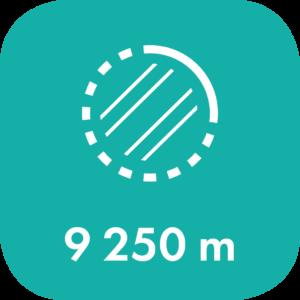 Kaksoisraidetta asennettu 9250 metria