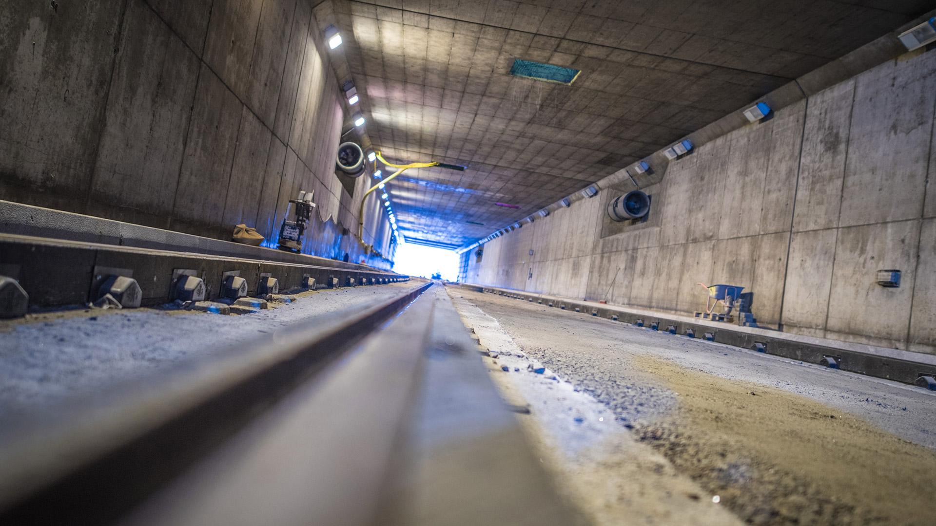 Kuva Huopalahden tunnelin työmaasta.